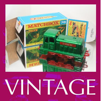1976 Matchbox Lesney Locomotiva Trem + Custom Box