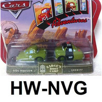 Disney Cars Mini Adventures Doc Hudson E Sheriff (lacrado)