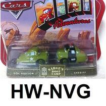 Disney Cars Mini Adventures Doc Hudson E Sheriff (lacrado)