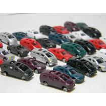 Lote 10 Miniaturas Carros Escala 1:200 Figuras P/ Maquete