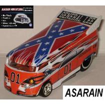 Vw Drag Bus General Lee Custom Hot Wheels - 1/64