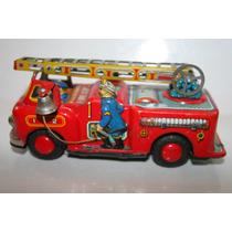 Brinquedo Caminhão De Bombeiro De Lata Made Japan Ñ É Banday