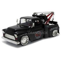 Chevy Stepside Tow Truck 1955 1:24 Jada Toys 96401-preto