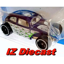 Custom Volkswagen Beetle Fusca 2009 Hot Wheels #121 Lacrado