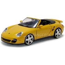 Porsche 911 Turbo Cabriolet 1:24 Motormax 73348-amarelo