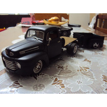 Pick Up Ford F-1 1948 1/18 Customizada Com Carretinha