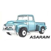 Ford F100 56 Azul Matchbox - 1/64