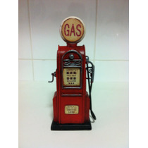 Miniatura Bomba Gasolina Retro Gas Station Cofre Moedas