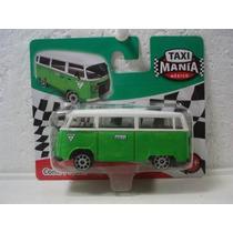 Kombi Taxi Verde Do México 1:64 Único No Mercado Livre !!!