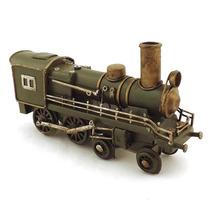 Miniatura De Trem Locomotiva Verde Oldway