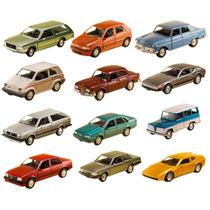 Coleção 12 Miniaturas Carros Brasileiros Classicos Nacionais