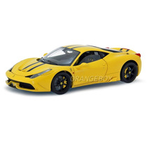 Ferrari 458 Speciale Hot Wheels Elite 1:18 Amarelo Bly32