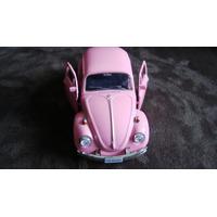 Carrinho De Ferro Metal Volkswagen Beetle Fuska Miniaturas