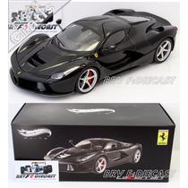 1/18 Hot Wheels Elite Ferrari Laferrari V12 Kers Preta 2014