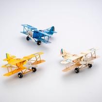 3x Enfeite Em Forma Avião Ferro 17x13x6cm Prestige R 30038
