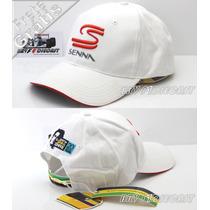 Boné 100% Oficial Ayrton Senna Sempre 20 Anos Branco F1 2014