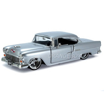 Chevy Bel Air 1955 1:24 Jada Toys 90352-prata