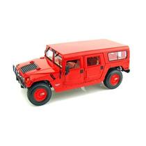 Miniatura Carro Hummer Wagon 4-door Vermelho 1:18 Maisto