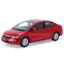 Honda Civic 1:18 2009-2011 Vermelho Civic09-11-vermelho