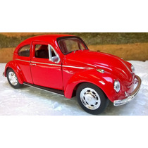 Miniatura Volkswagem Fusca Vermelho 1967 - 1/32