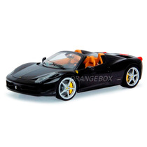 Ferrari 458 Spider Hot Wheels Elite 1:18 Preto Bcj90