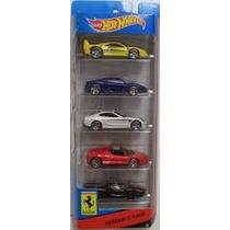 Carrinho Hot Wheels Pack 5 Ferraris Coleção 2014