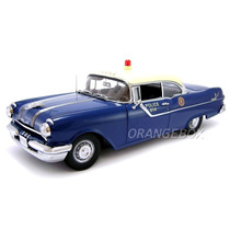 Pontiac Star Chief 1955 Police Car Sunstar 1:18 Azul 5046
