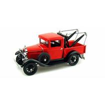 Miniatura Ford Model A Tow Truck 1931 Vermelh 1:18 Signature