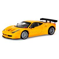 Ferrari 458 Itália Gt2 Hot Wheels 1:18 Amarelo Bcj78