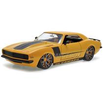 Chevy Camaro 1968 Lopro 1:18 Jada Toys Amarelo 64015-1