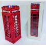 Cofre Metal Cabine Telefônico Londres Enfeite Retrô Antiguid