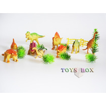 Dinossauros Plástico Brinquedo Kit 20 Peças - Miniatura