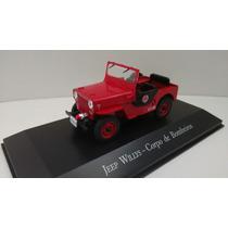 Miniatura Jeep Willys - Corpo De Bombeiros - 1/43