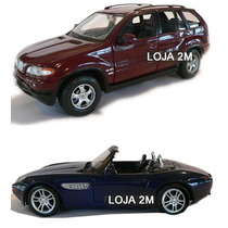 Kit Com 02 Miniaturas Bmw X5 E Bmw Z8 Em Metal 1:24