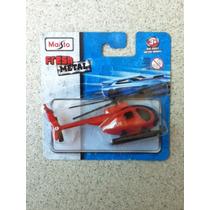Carrinho Maisto Helicóptero Rescue Escala 1:64