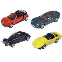 Kit Com 4 Miniaturas Metal Carros Antigo Da Maisto - 11 Cm