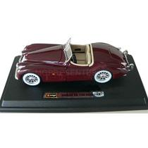 Miniatura Carro Antigo Jaguar Xk 120 Ano 1948 Burago 1:24