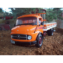 Miniatura Caminhão Mercedes Benz 1113 Escala 1/43 Metal