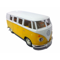 Carrinho Kombi Amarela - Miniatura 1/32 - Fricção