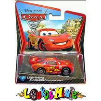 Disney Cars 2 Mcqueen With Racing Wheels Lacrado Mattel