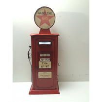 Miniatura Bomba Gasolina Retro Vintage Metal Rustica 47 Cm