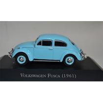 Miniatura Fusca 1961 Coleção Carros Inesquecíveis 1.43