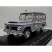 Miniatura Rural Willys Policia Militar Radio Patrulha 1:43