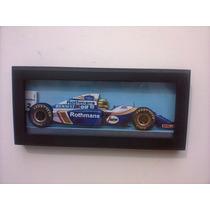 Ayrton Senna Willians Fw16 Quadro 3 D Madeira