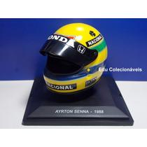 Miniatura Capacete Ayrton Senna 1/5 1988