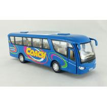 Miniatura Ônibus Coach Travel Azul