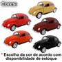 Mini Fusca Movido A Fricção Volkswagen Miniatura Decoração