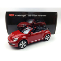 1:18 Miniatura New Beetle Kyosho 2013 Fusca Vw 8812tr Cabrio