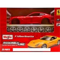 Kit Montar Ferrari F12 Berlinetta 1:24 Maisto 39121-vermelho