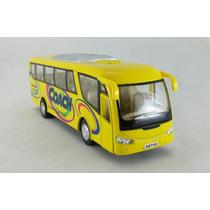 Miniatura Ônibus Coach Travel Amarelo